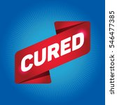 cured arrow tag sign. | Shutterstock .eps vector #546477385