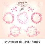 romantic vintage floral frames... | Shutterstock .eps vector #546478891