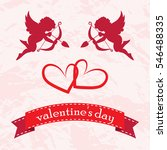 valentines day cards with... | Shutterstock .eps vector #546488335