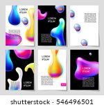 set of abstract bright colorful ... | Shutterstock .eps vector #546496501