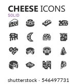 simple modern set of cheese... | Shutterstock .eps vector #546497731