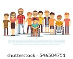 disabled child  handicapped... | Shutterstock .eps vector #546504751