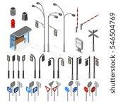 isometric 3d street  road... | Shutterstock .eps vector #546504769