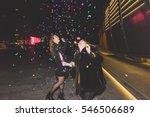 two young beautiful caucasian... | Shutterstock . vector #546506689