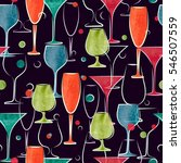seamless pattern with colorful...   Shutterstock .eps vector #546507559