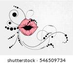 lips kiss. vector patch ...   Shutterstock .eps vector #546509734
