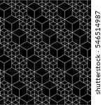 monochrome illusive abstract... | Shutterstock . vector #546514987