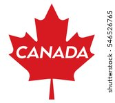 a vector maple leaf with text... | Shutterstock .eps vector #546526765
