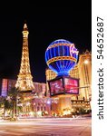 Stock photo las vegas mar paris las vegas hotel and casino sign in the shape of the montgolfier balloon 54652687