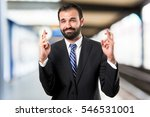 young businessman with his... | Shutterstock . vector #546531001