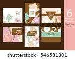 six unique vector vintage... | Shutterstock .eps vector #546531301