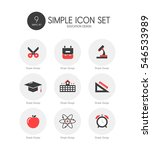 education simple icon set | Shutterstock .eps vector #546533989