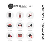 shopping simple icon set | Shutterstock .eps vector #546534025