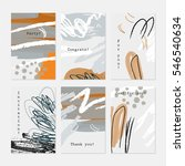 rough textured strokes floral... | Shutterstock .eps vector #546540634
