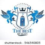 heraldic coat of arms... | Shutterstock . vector #546540805