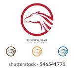 horse logo template vector | Shutterstock .eps vector #546541771