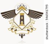heraldic design  vintage emblem.... | Shutterstock . vector #546541795