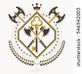 heraldic design  vintage emblem.... | Shutterstock . vector #546542005