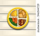 healthy meal food menu... | Shutterstock .eps vector #546544729