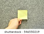 sticky note is posted in board... | Shutterstock . vector #546550219