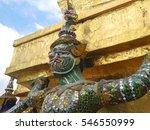 demon guardian at wat phra kaew ... | Shutterstock . vector #546550999