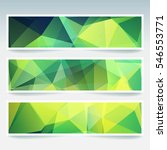 set of banner templates with... | Shutterstock .eps vector #546553771