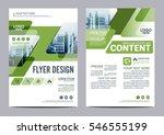 greenery brochure layout design ... | Shutterstock .eps vector #546555199