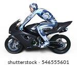 3d cg rendering of a super hero | Shutterstock . vector #546555601