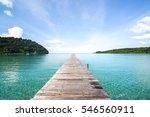 wooden bridge road to freedom... | Shutterstock . vector #546560911