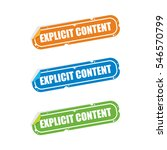 explicit content sticker labels | Shutterstock .eps vector #546570799