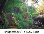 stairs to the waterfall. | Shutterstock . vector #546574585