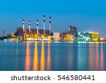 at dusk  the thermal power... | Shutterstock . vector #546580441
