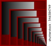 Abstract Rectangle Red And Gra...