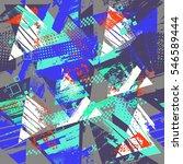 grunge geometric pattern for... | Shutterstock .eps vector #546589444