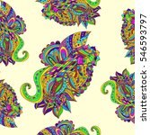 color doodle background | Shutterstock . vector #546593797