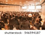 blur image the meeting room | Shutterstock . vector #546594187
