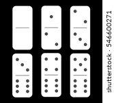 domino white. zero and zero and ...   Shutterstock .eps vector #546600271