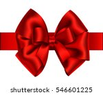 decorative red bow with... | Shutterstock .eps vector #546601225