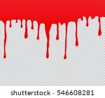 red paint dripping.dripping... | Shutterstock .eps vector #546608281
