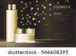 cosmetic product poster  gold... | Shutterstock .eps vector #546608395