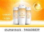 sunblock ads template  sun... | Shutterstock .eps vector #546608839