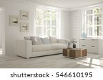 white room with sofa and green... | Shutterstock . vector #546610195