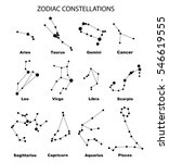 vector. constellations of the... | Shutterstock .eps vector #546619555