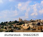 to see dormition abbey on mount ... | Shutterstock . vector #546622825