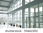 glass building inside  one side ... | Shutterstock . vector #54662302