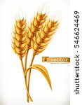 ear of wheat. 3d vector icon | Shutterstock .eps vector #546624469