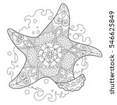 starfish coloring book for... | Shutterstock . vector #546625849