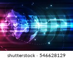 abstract future technology... | Shutterstock .eps vector #546628129