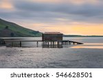 Boat shed in Hoppers Inlet, Papanui Inlet, Dunedin, new zealand