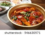 Dakbokkeumtang  braised spicy...